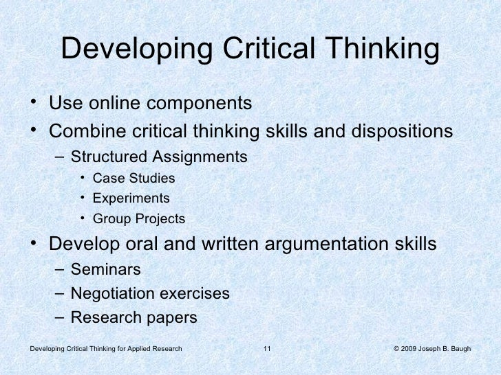 thesis statement for critical thinking paper A critical analysis is subjective writing because it expresses the writer's sample outline for critical essay b thesis statement indicating writer's main.