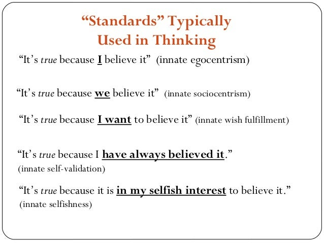 types of critical thinking strategies