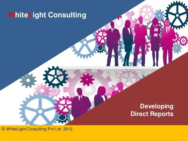 Developing direct reports coaching program