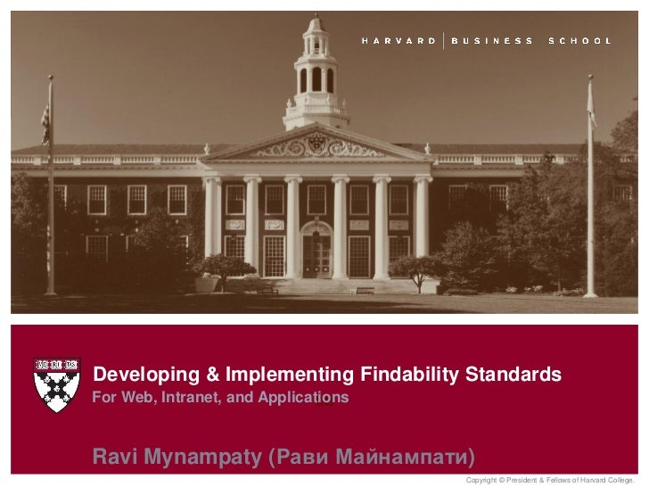 Developing & Implementing Findability StandardsFor Web, Intranet, and Applications                               bbRavi My...