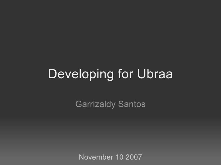 Developing For Ubraa