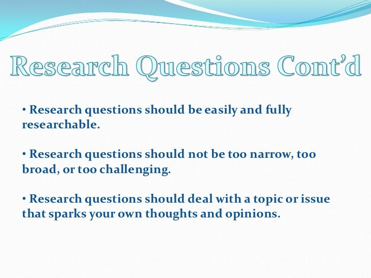 Dissertation research questions hypotheses