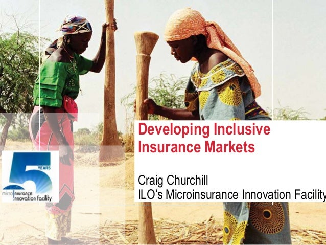 Developing inclusive insurance markets