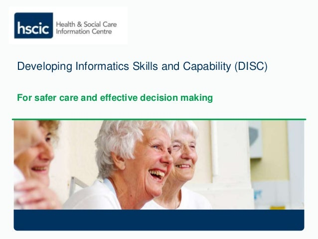 HSCIC: Developing Informatics Skills