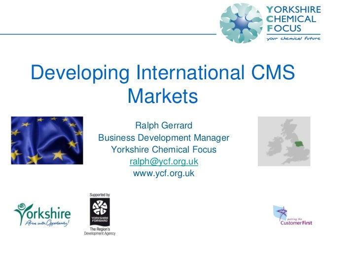 Developing International Cms Markets 13.11.08