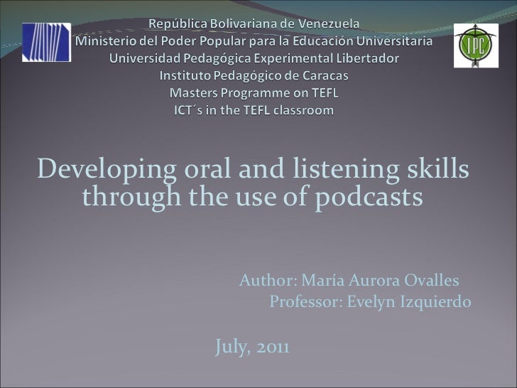 Developing listening and oral skills through podcasts 2