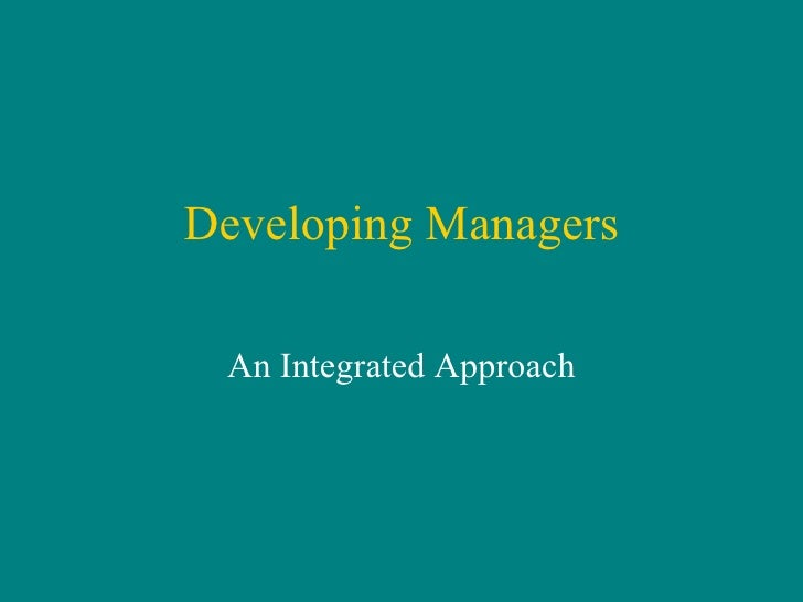 Developing Managers