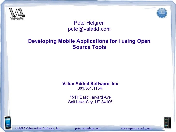 Developing mobile applications for i using open source tools  Venna 2012