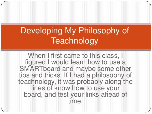 When I first came to this class, I figured I would learn how to use a SMARTboard and maybe some other tips and tricks. If ...