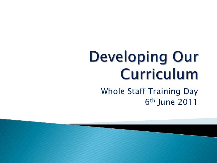 Developing our curriculum