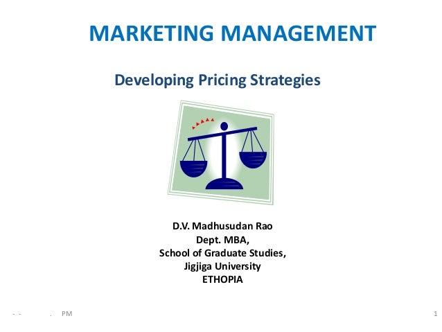 Developing price strategies