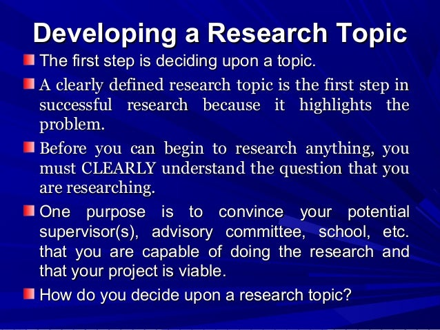 Step of research proposal