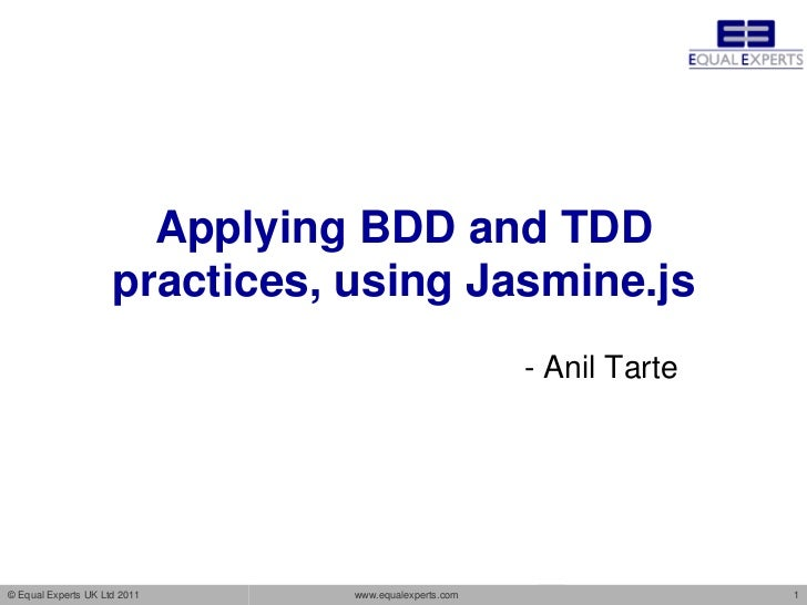 Applying BDD and TDD                     practices, using Jasmine.js                                                      ...