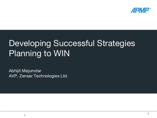 Developing Successful Strategies &  Planning to Win - APMP Best Practices Webinar