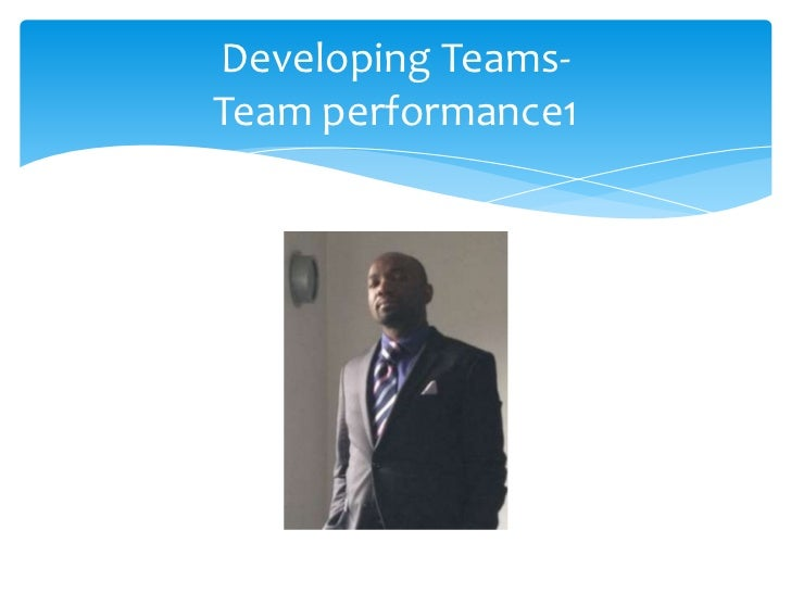 Developing teams in business   team performance1