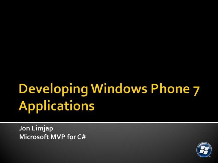 Jon Limjap Microsoft MVP for C#