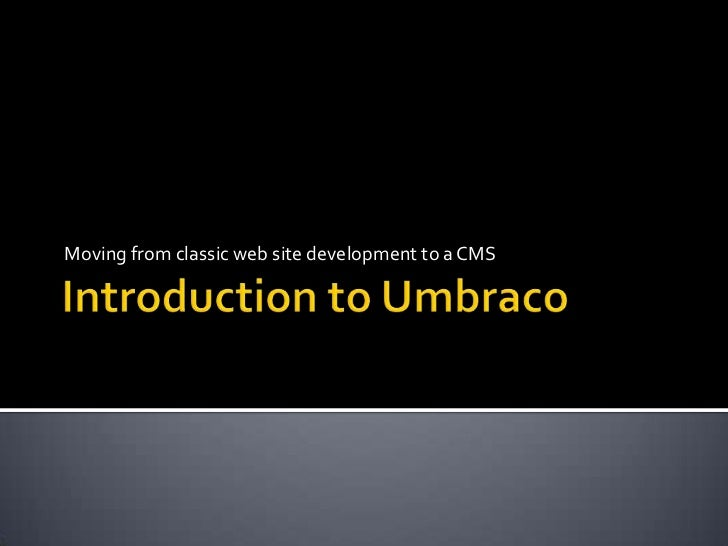 An Introduction to Umbraco
