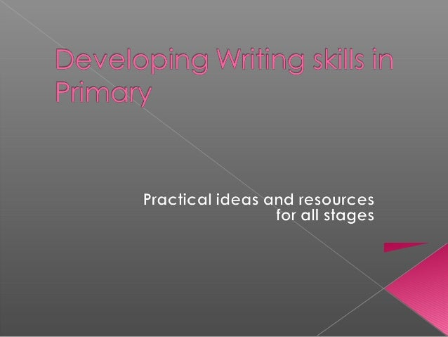 Developing ML writing skills in primary