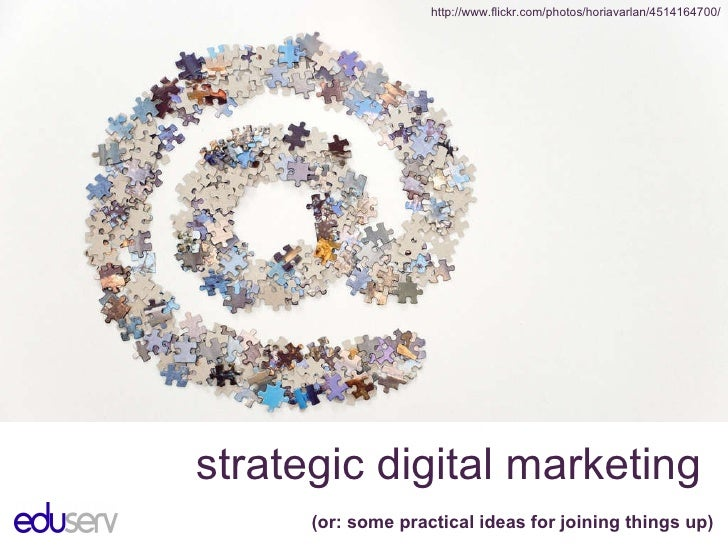 Strategic digital marketing: some ideas for joining things up