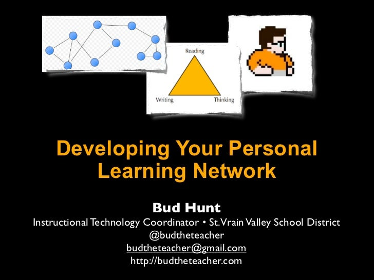Developing Your Personal        Learning Network                           Bud HuntInstructional Technology Coordinator • ...