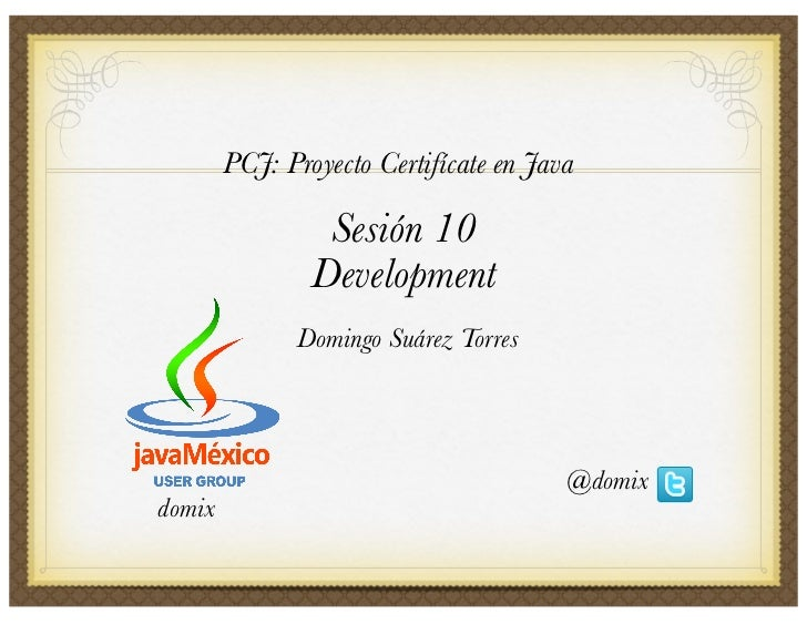 PCJ Sesión 10: Development