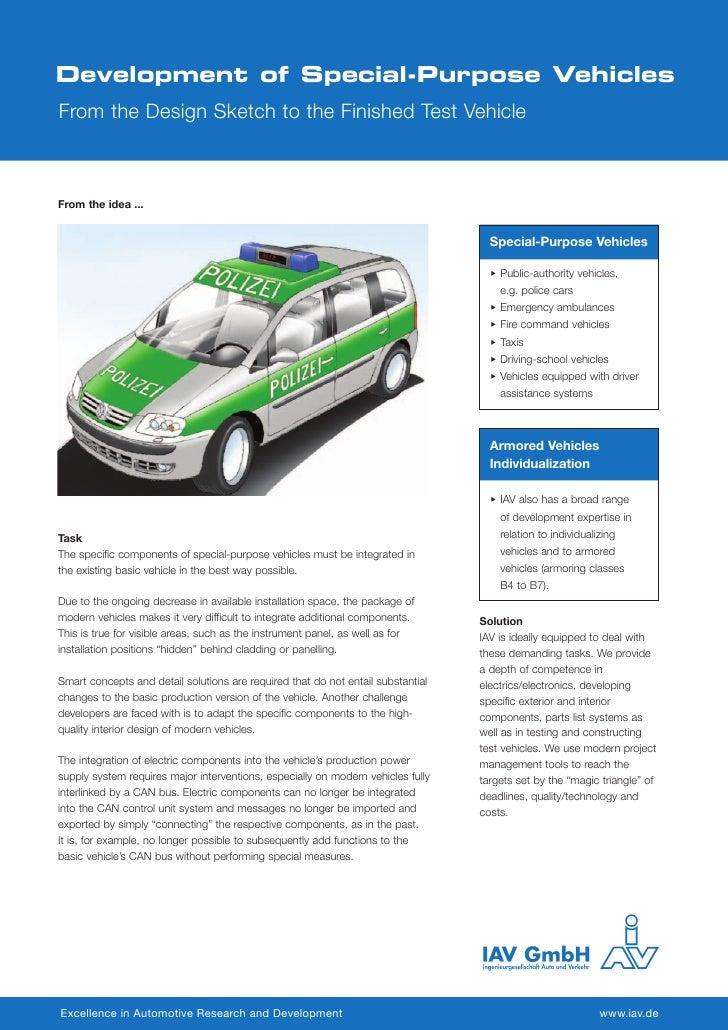 Development of Special-Purpose Vehiclas