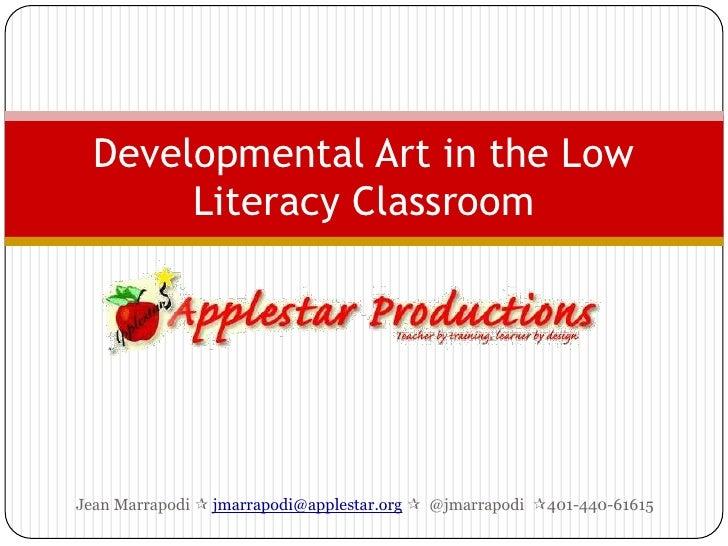 Developmental art in the low literacy classroom