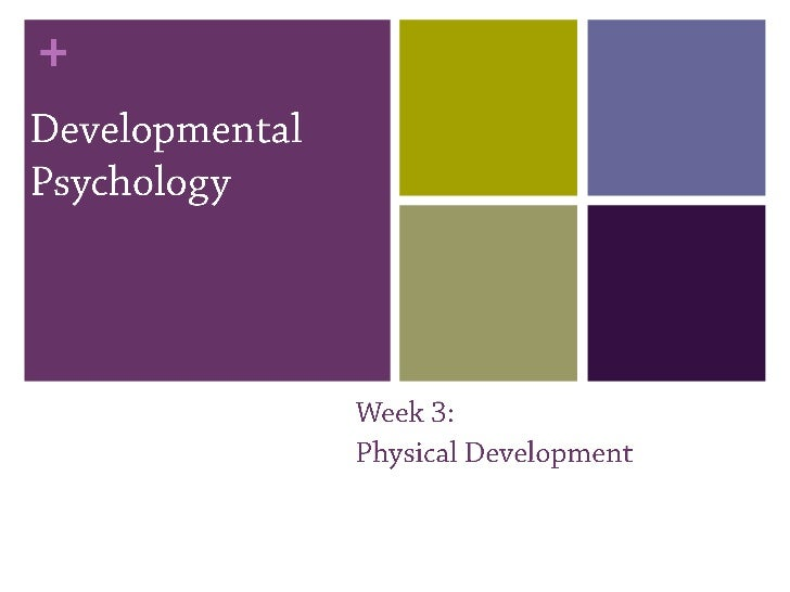 Developmental psychology 3