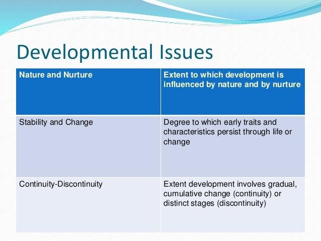 The Nature vs. Nurture Issue?