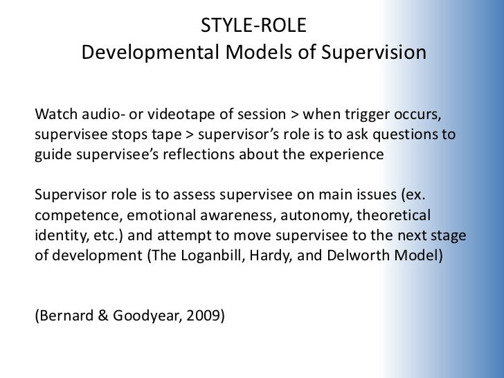 """styles of supervision Most fall somewhere between autocratic and democratic for example, some managers go with a """"coaching"""" supervisor style coaching involves the director focusing on the employee's learning process here's the catch no single supervising style is perfect for every situation coaching isn't going to work well in a situation."""