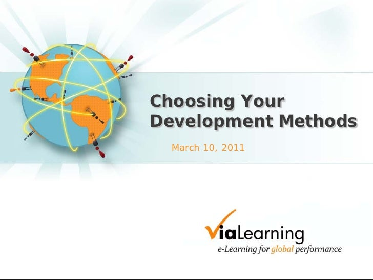 Slides - Choosing Your e-Learning Development and Delivery Method