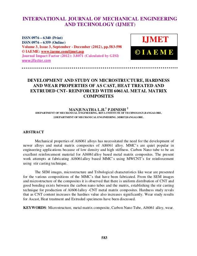 INTERNATIONALofJOURNAL OF MECHANICAL ENGINEERING   International Journal Mechanical Engineering and Technology (IJMET), IS...
