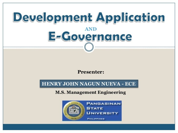 Development Application & e governance