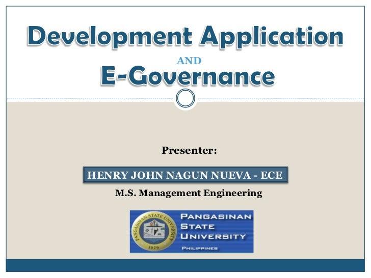 AND           Presenter:HENRY JOHN NAGUN NUEVA - ECE   M.S. Management Engineering