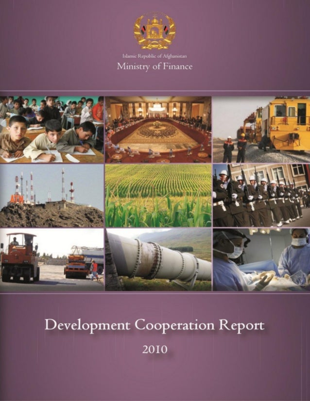 Development Cooperation Report 2010 of Afghanistan
