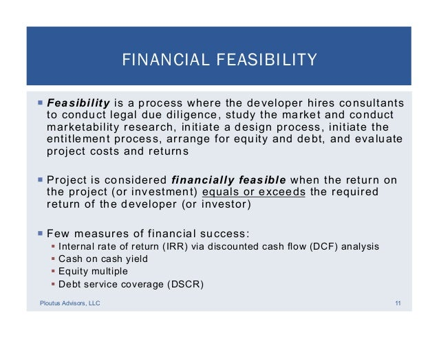 Real Estate Development Finance : Real estate development financial feasibility