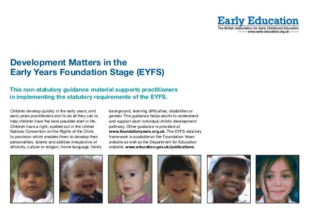 Development Matters in the EYFS