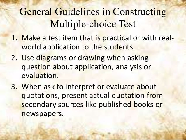 Is multiple choice or essay the true test of knowledge?