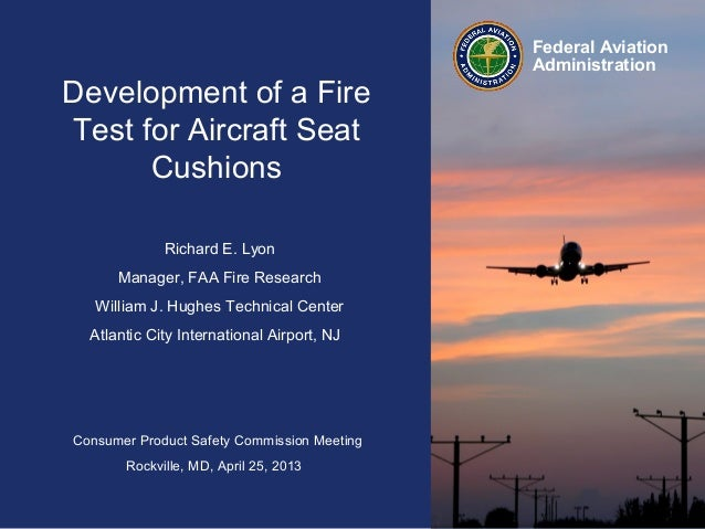 Consumer Product Safety Commission MeetingRockville, MD, April 25, 2013Federal AviationAdministrationRichard E. LyonManage...