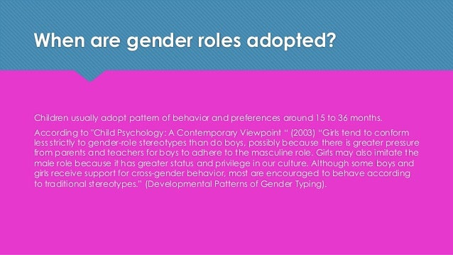the changing social concept of gender issues and roles A conceptual framework for gender analysis  the following factors can shape and change gender roles: age  the concept of gender roles has been developed from.