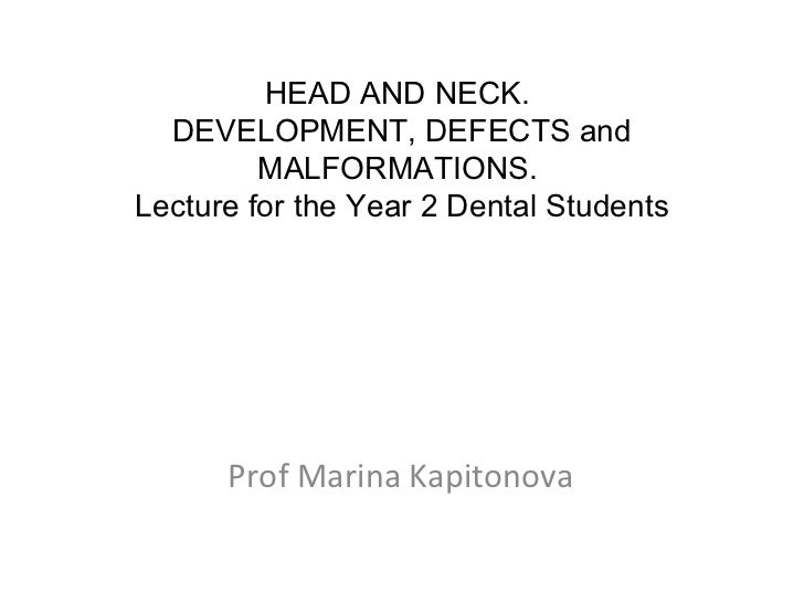 Development of head and neck final