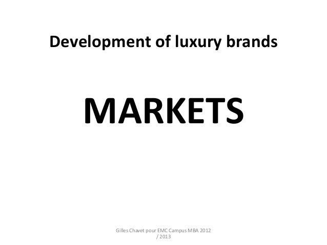Developmentof luxurybrands part 2