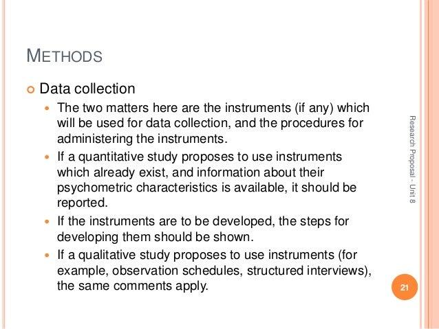 Dissertation proposal data collection