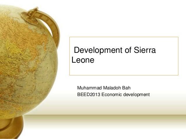 Development of sierra leone