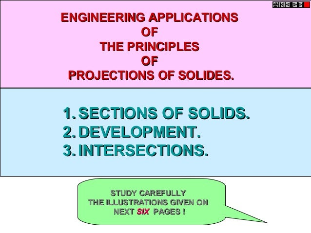 1.1. SECTIONS OF SOLIDS.SECTIONS OF SOLIDS. 2.2. DEVELOPMENT.DEVELOPMENT. 3.3. INTERSECTIONS.INTERSECTIONS. ENGINEERING AP...