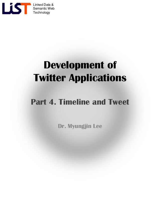 Development of Twitter Application #4 - Timeline and Tweet