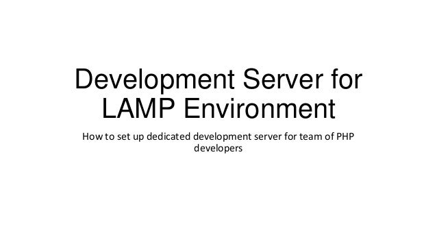 "Андрей Степанов ""Development server for lamp environment"""