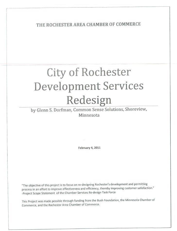 Development services redesign (chamber study)