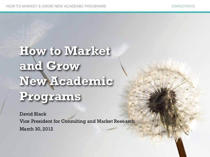 How to Market and Grow New Academic Programs