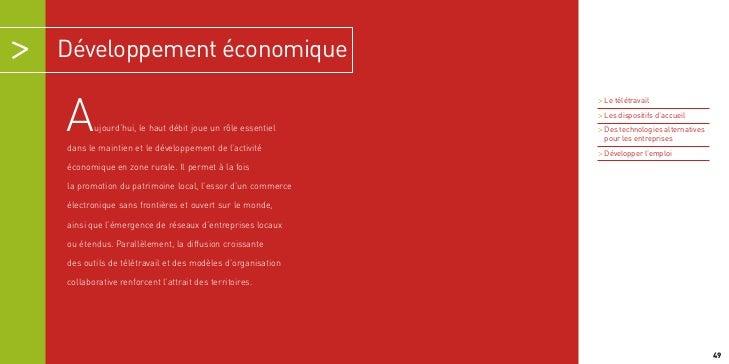 Développement économique                                                          > Le télétravailA      ujourd'hui, le ha...